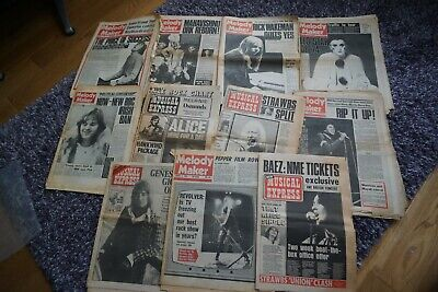 NEW MUSICAL EXPRESS MELODY MAKER A SET OF 11 1970's PAPERS