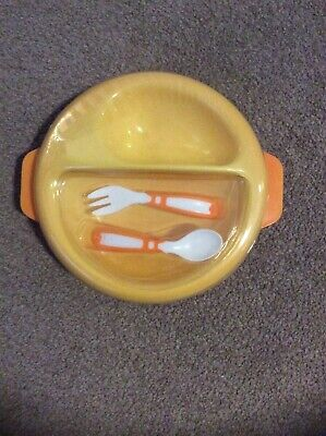 MINI BE Warm Plate with Partition and Cutlery