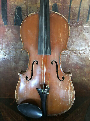 Old Antique Violin, Probably American 7/8 scale For Restoration