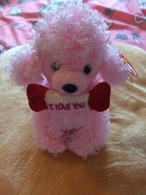 Rare TY Beanie Baby Pup-In-Love New With Tag