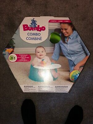 BNIB Bumbo Floor Seat And Play Tray - LIME GREEN