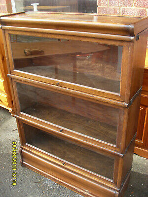 3 Section Barristers Bookcase