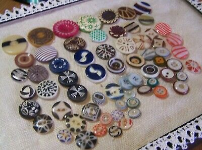 Antique Buttons Vintage Nice Collection 65 Stencil Assorted Designs