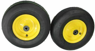 2 New 13x5.00-6 ATW Rib Tires on John Deere Zero Turn Front Caster Wheel J-10