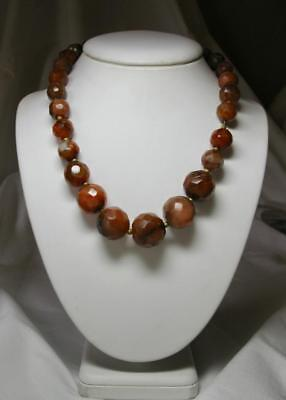 Ancient Carnelian Bead Necklace Parthian 2000 Years Old c.1st-3rd Century AD