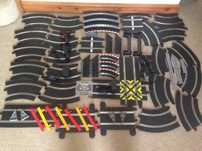 SCALEXTRIC LARGE SPORT TRACK COLLECTION PLUS EXTRAS APPROX 70 Pieces