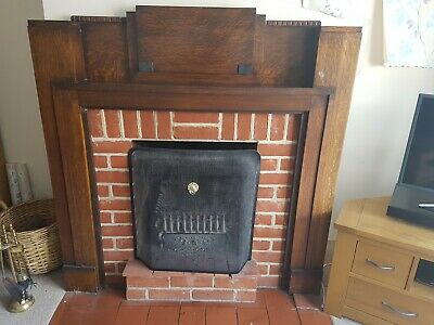 Art Deco Style Wooden Mantle/fire Surround