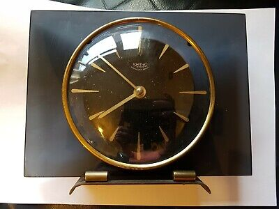 Vintage Smiths 30 Hour  Mantel Clock Made In England PLEASE READ Smokey Effect