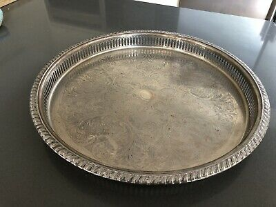 Large Cavalier Silver Plated Serving Tray