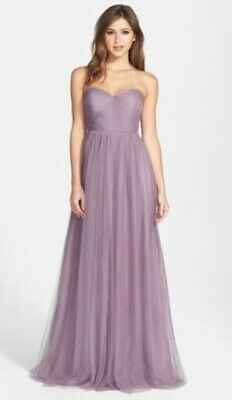 7d413b24c4 Jenny Yoo Collection BHLDN Annabelle Convertible Tulle Lilac Dress Sz 2