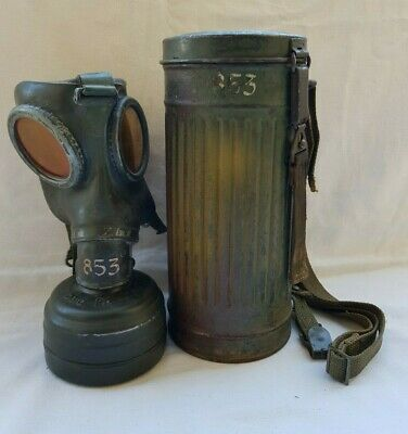 German Camouflage Gas Mask Canister M30 WW2 MASCHERA ANTI GAS MIMETICO TEDESCO