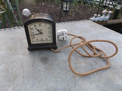old vintage smiths clock 240 volt