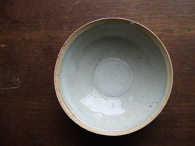 CHINA.  SUNG DYNASTY. 12th/13th CENTURY  BLUEISH GLAZED POTTERY BOWL.