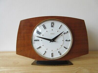 Vintage Art Deco Style Wind Up By Metamec 30 Hour Mantel Clock,  See Label
