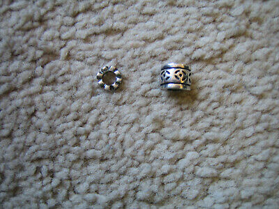 PANDORA lot Silver Charm & Spacer (total of 2 items)