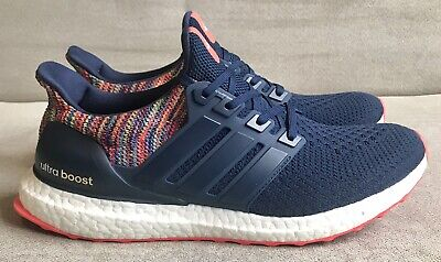 best loved ef08f db136 Adidas MiAdidas Mi-Ultra Boost 2.0 Navy Multi-color Rainbow Size 10 BY1756
