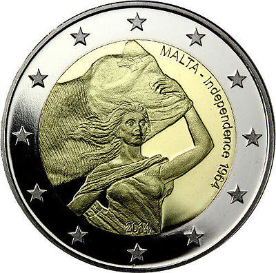 * 2 Euro Commemorative - Unc - Malte 2014 - Independance