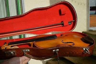 Old French-Swiss ''Alfred FALLET'' 1914 violin with case and bow