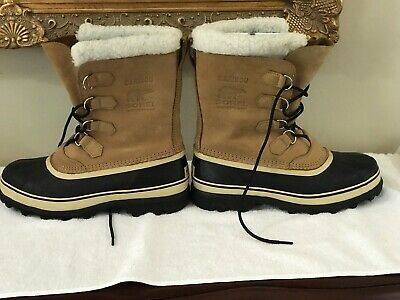 NWT SOREL Caribou Mens Size 10 Brown Waterproof Boots Snow Winter