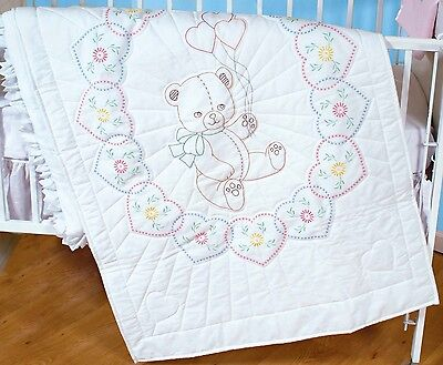 From Jack Dempsey Inc. JUNGLE CRIB QUILT TOP EMBROIDERY PATTERN