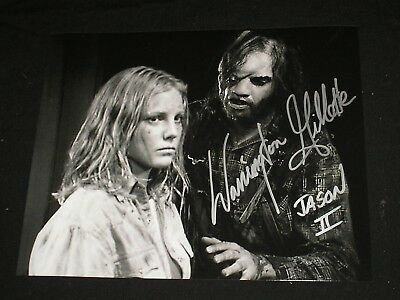 WARRINGTON GILLETTE Signed Jason Voorhees 8X10 Photo FRIDAY THE 13TH Part 2 K