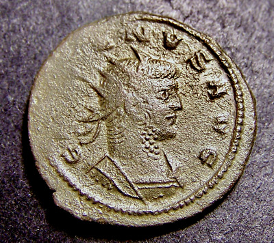 GALLIENUS, Mythical Apollo Sacrifices, Tripod Altar, Imperial Roman Emperor Coin