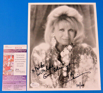 ANGIE DICKINSON SIGNED 8x10 PHOTO ~ JSA R78224 ~ HOLLYWOOD ACTRESS  POLICE WOMAN