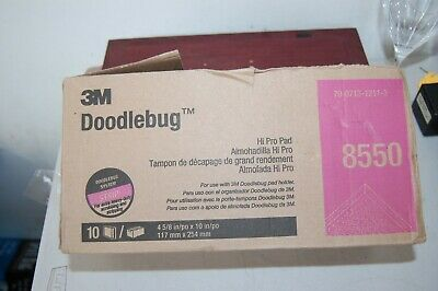 "Box Of 10 3M 8550 4 5/8"" X 10"" Strip Pad For Doodlebug Hi Pro Pad Floor Cleaning"