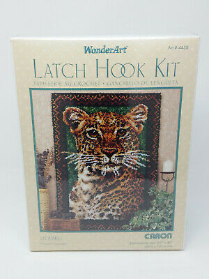 Caron WonderArt Leopard Wild Cat Latch Hook Kit Rug 4458 27 x 40 in. - NEW