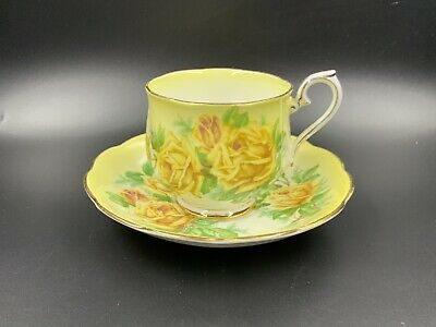 Royal Albert Yellow Tea Rose Tea cup Saucer Set England Bone China
