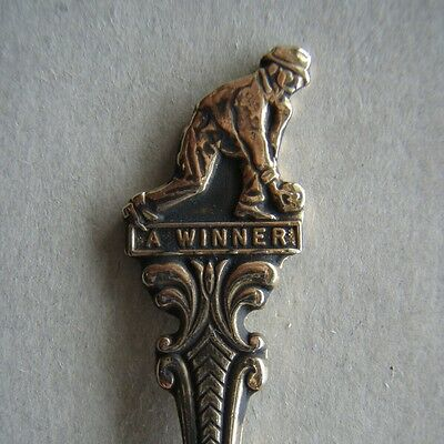 Lawn Bowls A Winner Mens DBC c.1981/82 Souvenir Spoon Teaspoon (T82)