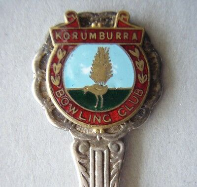 Korumburra Bowling Club Peninsula Plate Souvenir Knife Teaspoon