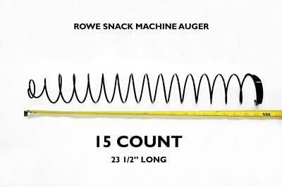 Rowe Snack Machine 15 Count Auger Spring