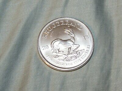 2018 South Africa Krugerrand 1 Ounce Fine Silver Coin