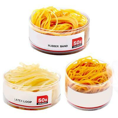 Rubber Elastic Bands Thick Red Brown Grocery Money Bulk For Home Office 50/100g