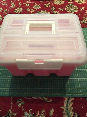 Pink Plastic Craft/Sewing Storage Container