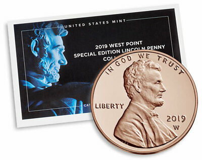 2019 W. Proof Lincoln Uncirculated 1 Cent Third West Point And Final Presale *