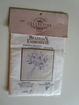 Blackberry Lane Collection Brazilian Embroidery Of A Wedding Bouquet No. 111Pink