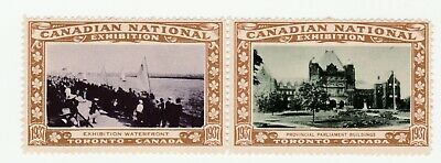 Canada National Exhibition- Toronto ,Waterfront & parl. Building join pair poste