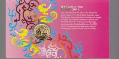 2011 Lunar Year of the Rabbit $1 Coin P mint mark carded