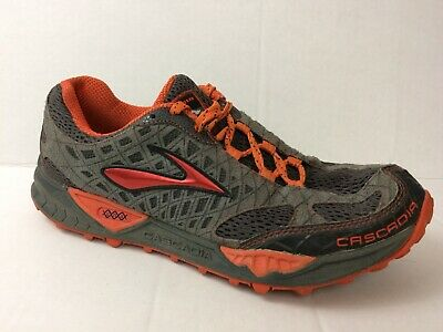cefa03261cd Brooks Cascadia Mens 8.5 Medium Trail Running Sneaker Athletic Shoes Gray  Orange