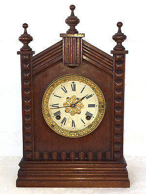 Antique Ansonia 8 Day American Strike Shelf Clock