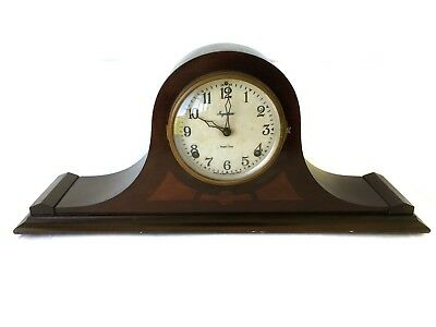 Ingraham Antique 8 Day American Strike Clock In Napoleon Hat Case - Hermes