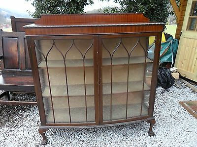 Vintage Glass Mahogany Display Cabinet