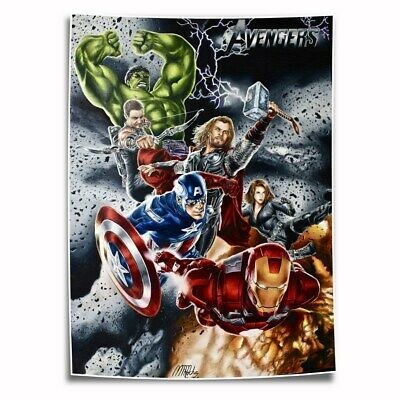 Marvel Avengers HD Canvas prints Painting Home Decor Picture Room Wall art