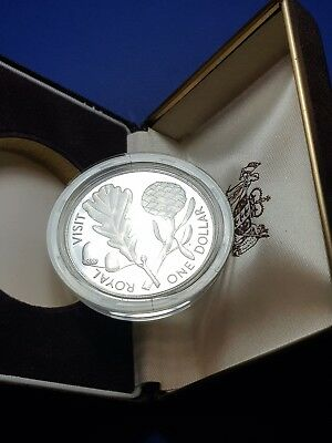 New Zealand 1981 Silver One Dollar Proof Coin Royal Visit BULLION GEM 17k MINTED