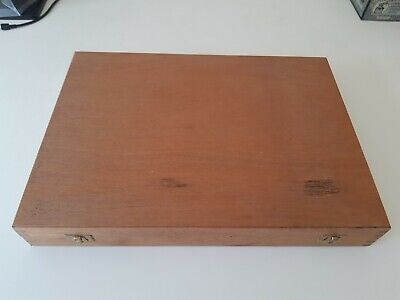 Slide box storage wooden