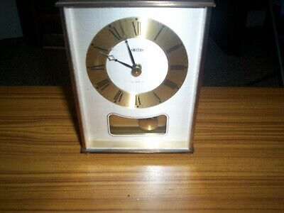Smiths Quartz Clock With Pendulum And Hour Chime All Working But Has Small Fault