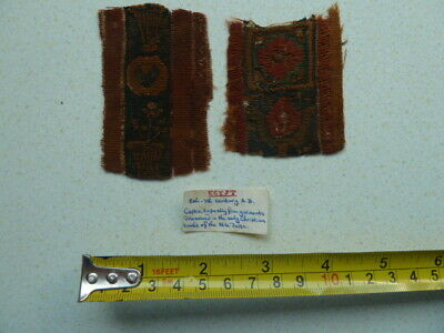 Early Egyptian Coptic Textile Fragments 6-7th Century