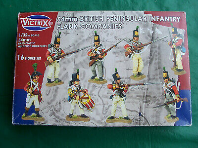 Victrix 54mm 1/32 British Peninsular Infantry Flank Companies boxed